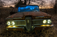 Dawn of the Deadsel (Noel Kerns) Tags: abandoned station night wagon texas edsel 1959 villager