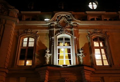 Budapest, inner city (elinor04 thanks for 34,000,000+ views!) Tags: light building window architecture night shot theatre budapest noflash ornaments vígszínház