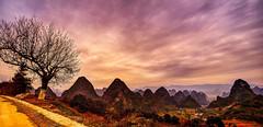 Yangshuo_1 (Santo(Thanks for 2 Million++views!!)) Tags: china sky tree clouds sunrise landscape lights day guilin yangshuo d800 mygearandme mygearandmepremium