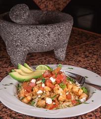 Mexican Market Pasta with Shrimp (hathaway_m) Tags: food verde shrimp pasta mexican chorizo salsa dinnerdiva