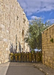 293/365 Defenders of the Holy Land (michaelbriggsphotography.com) Tags: travel army israel jerusalem ceremony soldiers walls 365 hdr travelphotography conscription 365project