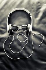 I Am The Music Man (Ricky Dyer) Tags: music smile sunglasses lumix blackwhite wire highcontrast cable panasonic headphones 2014 f17 dmcg3