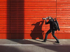 strike a pose (Jon Downs) Tags: uk red orange white black color colour london art colors thames canon downs photography grey photo jon flickr artist colours photographer image united gray picture kingdom pic powershot southbank photograph g11 jondowns ionpaciu