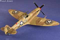 Eduard 1/48 Spitfire Mk.IXc Early (philrdjones) Tags: plastic spitfire kit scalemodel eduard usaaf 148 ixc scalemodelling ixcearly