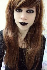 (JessicaNeko92) Tags: red cute ariel girl dark hair ginger punk pretty cosplay emo scene piercing queen redhead lip swag redheads ragazza selfie gingers yolo cute queen so lasirenetta arielcosplay scene