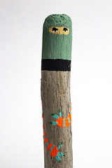 NINJAS (ELECTROBUDISTA) Tags: wood sculpture art painting fun cool artwork funny arte ninja awesome funky ninjas graffitipaintings electrobudista