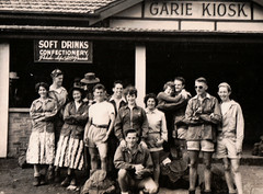 Group at Garie Kiosk (Boobook48) Tags: foundphoto garie nsw kiosk group royalnationalpark