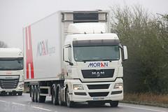 MAN Moran Logistics DA12 SNN (SR Photos Torksey) Tags: truck transport haulage hgv lorry lgv logistics road commercial vehicle traffic freight man moran