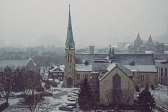 Toronto (VV Nincic) Tags: toronto ontario stbasilchurch snow cans2s stbasils