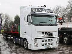 Volvo FH DJK Transport T18DJK Frank Hilton IMG_5132 (Frank Hilton.) Tags: classic truck lorry eight wheel maudsley aec atkinson albion leyalnd bristol austin outside heavy haulage crane 8 axle