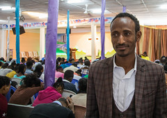 Evangelist Mohamed who converted from islam to christianity inside the gospel church, Addis Ababa region, Addis Ababa, Ethiopia (Eric Lafforgue) Tags: addisababa africa catholic ceremony christian christianism christianity church colourpicture conversion convert converted conviction culture ethiopia ethiopia0317391 evangelism evangelist evangelists faith groupofpeople horizontal hornofafrica indoors islam jesus men muslim pray prayer praying religion religious service society spiritual spirituality theology waistup worshipper addisababaregion
