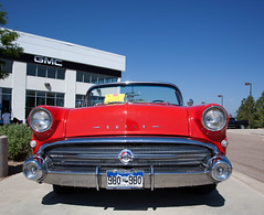 1957 Buick Roadmaster Convertible (coconv) Tags: car cars vintage auto automobile vehicles vehicle autos photo photos photograph photographs automobiles antique picture pictures image images collectible old collectors classic blart grille headlights 1957 buick roadmaster convertible 57 red