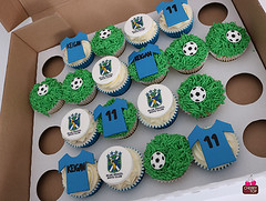 Blue_Brazil_Bpys_Club_Football_Cupcakes (A Cherry On Top Scotland) Tags: clairesara cherryontop birthdaycupcakes cupcakes cake fife burntisland scotland vowsnominee vowswinner birthday acherryontopscotland football liverpool 40th