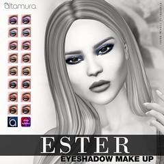 "Altamura Group ""Ester Eyeshadow"" ((altamura)) Tags: altamura make up eyeshadow lipstick omega blackfair meshhead bento monique secndlife sl fashion futureavatar"