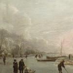 CAPPELLE Jan (van de),1653 - Paysage d'Hiver avec des Joueurs de Kolf (Custodia) - Detail 14 thumbnail
