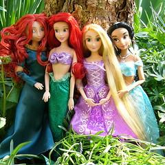 Disney Princesses (Hrbovec) Tags: disneystore merida rapunzel jasmine 2016 ariel dolls