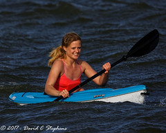 Rough Water For Kayaking (dcstep) Tags: englewood colorado unitedstates us cherrycreekstatepark allrightsreserved copyright2017davidcstephens dxoopticspro1131 nature urban urbannature canon5dmkiv ef500mmf4lisii ef14xtciii n7a7721dxo kayaking rough roughwater woman paddle cherrycreekreservoir cellphone copyrightregistered04222017 ecocase14949772801
