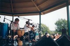 SF - Gazebo 4 (rumimume) Tags: rumimume 90s owensound ontario canada kelsobeach photo music festival summerfolk performer outdoors people folk fun summer august weekend vintage scan