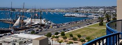 Patio View of Star of India on Harbor Drive - San Diego (Blue Rave) Tags: 2017 ca california sandiego patio bay water sandiegobay wideangle
