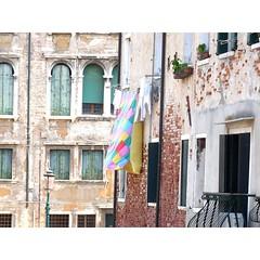 Colourful laundry in Venice (borisvasilev) Tags: blanket laundry venice venezia street buildings colour color colourful architecture