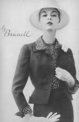 Branell 1956 (barbiescanner) Tags: vintage retro fashion vintagefashion 50s 50sfashion vogue vintagevogue vintageads branell jeanpatchett