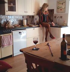 Basque 6 (Kinkette Pec) Tags: kinkette fetish erotic drag mask masker femalemasking pvc corset kinky pervert perversion highheels rubber latex nylons bodystocking fishnets crossdressing crossdresser transvestite shemale trans lgbt