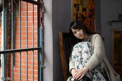 林艾欣 (玩家) Tags: 2017 台灣 台北 南機場公寓 人像 外拍 正妹 模特兒 林艾欣 室內 定焦 無後製 無修圖 taiwan taipei portrait glamour model girl female indoor d610 50mm prime tina lin