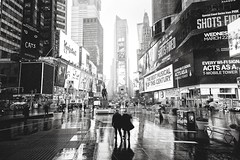 NYC Shines (8230This&That) Tags: manhattan nyc newyorkcity snow winter timessquare weather blackandwhite bw newyork