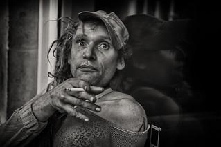 Street portrait of Deb