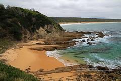 Bermagui, coastscape (blauepics) Tags: australia australien landscape landschaft new south wales nsw great pacific drive bermagui coast küste strand sand water wasser clouds wolken rocks felsen