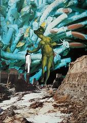 Ancient Trance (Peppe Bottiglieri) Tags: artworkbypeppebottiglieri giubotti papercollage greatlandscape transition vintagemagazine collagebypeppebottiglieri analogcollage