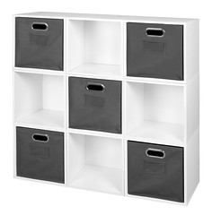 PC9PKWH_HTOTEGY (RegencyOfficeFurniture) Tags: niche regency cubo cubestorage modularstorage modular connecting connectable adaptable custom customizable cube square storageset closet organizer organization furniture cubes expandable home melamine laminate woodtone white whitewoodgrain pc9pk pc1211wh bins grey gray greystorage graytotes htotegy charcoal slate