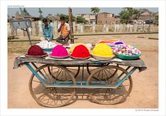 pigments (flovision.net) Tags: asia d800 hampi india karnataka nikon unescoworldheritagesite wwwflovisionnet pigment rangoli powder colors streetcart travel