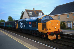 """37403 """"Isle of Mull"""" (Mike_47714) Tags: railway oulton broad train 37403 drs sprs br"""