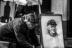 Echo (vedebe) Tags: noiretblanc netb nb bw monochrome humain people art artiste peinture dessin ville city urbain rue street portraits
