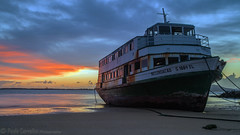 MEMORIES (Paulo Carvalho Photography) Tags: sky landscape sea sunset water boat river light clouds ship abandoned ferry alone ocean old wreck lost waterscape rio nuvens paisagem portugal coast mar seascape seaside costa céu nightfall paulocarvalho