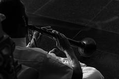 Temple trumpet (haqiqimeraat) Tags: sri mahamariamman temple srimahamariammantemple kualalumpur malaysia indiantemple southindian ritual puja prayer worship d7100 blackwhite monochrome bw contrast art