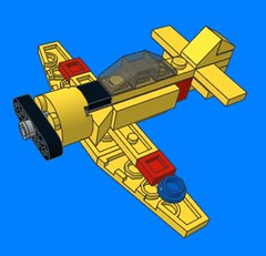 Micro T-6 (tbone_tbl) Tags: lego t6 snj harvard trainer micro microscale mini miniscale foitsop wwii plane airplane reno air races racing