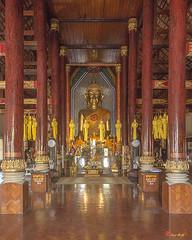 Wat Chomphu Phra Wihan Interior (DTHCM1209) วัดชมพู ด้านใน พระวิหาร
