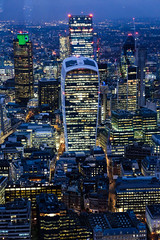 London Nightscape XVII (Douguerreotype) Tags: uk gb britain british england london city urban buildings architecture night dark lights skyline cityscape tower skyscraper work finance banking