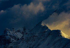 NorthFork in March X (Explored) (steve rubin-writer) Tags: westglaciernationalpark sunrise cloud light shadow explore explored