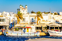 Naousa Harbour, Paros (Kevin R Thornton) Tags: d90 landscape fishingboats travel church naousa architecture greece mediterranean nikon harbour paros egeo gr