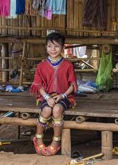 Yong Karen Palong girl (Lode Engelen - ลุงฝรั่ง) Tags: karenpalong thailand chiangrai girl earrings