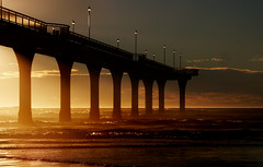 Dawn New Brighton Pier. NZ (Bernard Spragg) Tags: sunrise dawn beach pier jetty seaside bridgecamera seascape sky freephotos photofans