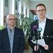 Spiegelhalter László, Vácrátót polgármestere és Rétvári Bence, az Emberi Erőforrások Minisztériumának parlamenti államtitkára, a Kereszténydemokrata Néppárt alelnöke