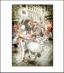 BATALA DRUMMERS  2 (DEREK HYAMSON . OVER 5 AND A HALF MILLION) Tags: candid hdr batala drummers liverpool church street