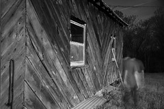 IMG_1404 (e08avenger) Tags: ghost black white photographs spooky fake horror haunted haunting staged barn motion blur