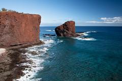 Sweetheart Rock (helenehoffman) Tags: path ocean seastack hikingpath pacificocean water trail volcanic hawaii island lanai