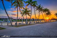 Coconut Tree Sunset Dubois Park Jupiter Florida at Boat Dock (Captain Kimo) Tags: captainkimo coconuttree duboispark florida hdrphotography jupiter luminar photomatixpro sunset