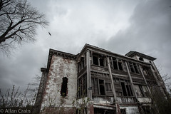 Day 163: Greene County Poor House (allankcrain) Tags: urbex abandoned gloom crow crows cloud clouds foreboding haunted greencountypoorhouse